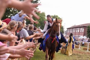 Reportage photo de la fete des chapons spectacle equestre